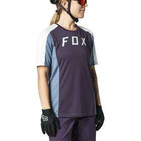 Fox Defend Kurzarm Trikot Damen dark purple